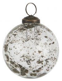 Ib laursen ´Stillenat´ julekugle 8,3 cm - Klar glas/pebbled