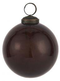 Ib laursen ´Stillenat´ julekugle 8,3 cm - Bordeaux glas/pebbled