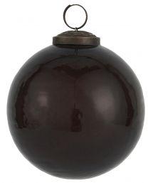 Ib laursen ´Stillenat´ julekugle 10,5 cm - Bordeaux glas/pebbled