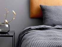 Södahl ´Minimal´ sengetæppe150x260 cm - Ash
