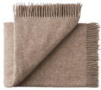 Silkeborg Uldspinderi ´Athen´ uld plaid 130x200 cm - Sand/ beige