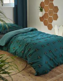 Covers & co ´Bee you´ sengesæt 140x200 cm - Grøn
