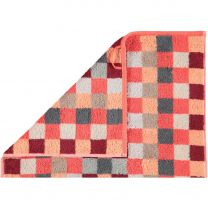 Cawö  ´Unique´ håndklæde med tern 50x100 cm - Koral