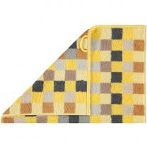 Cawö  ´Unique´ badehåndklæde med tern 70x140 cm - Gul