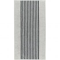 Cawö ´Black & white - Stripes´ håndklæde 30x50 cm - Silver/lys grå