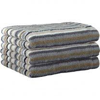 Cawö sand strib håndklæde 50x100 cm
