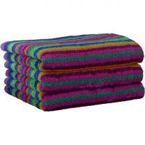 Cawö Multi strib håndklæde 50x100 cm