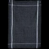 Frotté Viskestykke 45x70 cm - Sort/hvid