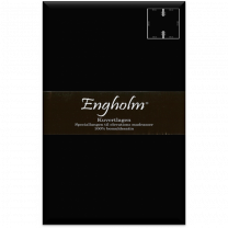 Engholm H65 - kuvertlagen i satin 180x200x25 cm - Sort