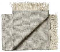 Silkeborg Uldspinderi ´Fanø´ uld plaid 140x240 cm - Grå