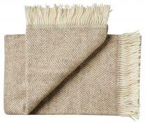 Silkeborg Uldspinderi ´Fanø´ uld plaid 140x240 cm - Beige/sand