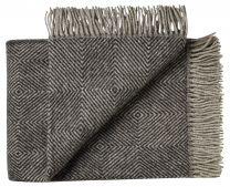 Silkeborg Uldspinderi ´Fanø´ uld plaid 85x130 cm - Sort