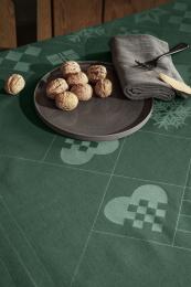 Juna ´Natale´ damaskdug 150x370 cm - Grøn