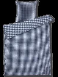Juna Bæk og bølge sengetøj 140x200 cm - mørkeblå/hvid