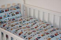 Nørgaard Madsen ´Trafik´ Junior sengetøj med biler - Blå