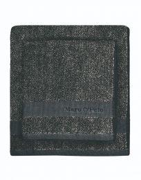 MARC O`POLO ´Melange´ vaskehandske 16x22 cm - Marine/brun