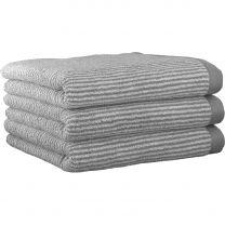 MARC O`POLO ´Timeless tone stripe´ håndklæde 50x100 cm - Grå/Hvid
