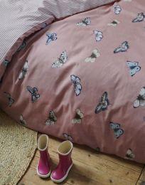 Covers & co ´Papillon´ juniorsengesæt 100x140 cm - Støvet rosa