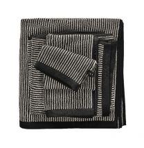 MARC O`POLO ´Timeless tone stripe´ håndklæder 70x140 cm - Night/Oatmeal
