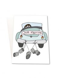 Mouse & Pen ´Just Married` - A5 kort