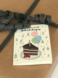 Mouse & Pen ´Tillykke med fødselsdagen` - A7 kort