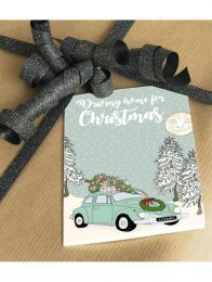 Mouse & Pen ´Driving home for christmas` - A7 kort