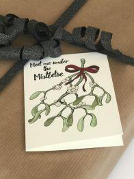 Mouse & Pen ´Meet me under the mistletoe` - A7 kort