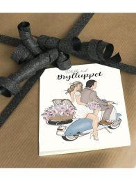 Mouse & Pen ´Tillykke med brylluppet` - A7 kort