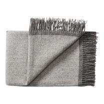 Silkeborg Uldspinderi ´Alrø´ uld plaid 140x240 cm - Lys grå