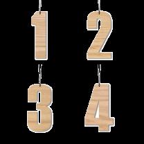 Felius Design Adventstal 6 cm - Egetræ