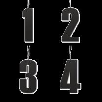 Felius Design Adventstal 6 cm - Sort