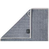 Cawö ´Contour´ håndklæde 50x100 cm - Blå