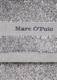 MARC O`POLO Melange håndklæde 50x100 cm - Marine/light silver