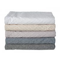 CPHLiving ´Ørestad´ sengetæppe 190x260 cm - Petroleumsblå