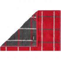 Cawö ´Noblesse interior - Square´ håndklæde 50x100 cm - Rød