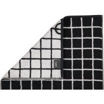 Cawö Luxury ´Two Tone´ håndklæde med tern  -Smaragd/grå