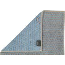 Cawö ´Loft allover´ håndklæde 80x150 cm - Lysblå/grå