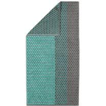 Cawö ´Loft striber´ håndklæde 80x150 cm - Mint/antracit