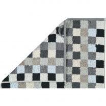 Cawö  ´Unique´ badehåndklæde med tern 70x140 cm - Antracit