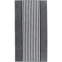 Cawö ´Black & white - Stripes´ badehåndklæde 70x140 cm - Antracit