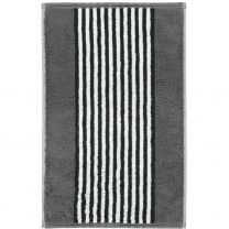 Cawö ´Black & white - Stripes´ håndklæde 30x50 cm - Antracit