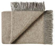 Silkeborg Uldspinderi ´Fanø´ uld plaid 85x130 cm - Pebbles beige