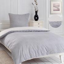 bySKAGEN ´Fiona´ sengetøj 140x220 cm - Sort/beige