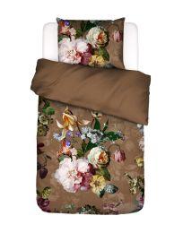 Essenza ´Fleurel´ flonel sengesæt 140x200 cm - Cafe noir