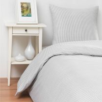 bySKAGEN ´Josefine´ sengetøj til dobbeltdyne 200x200 cm - Grå/hvid