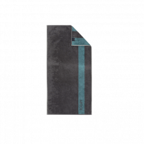 JOOP ´Infinity´ håndklæde 80x150 cm - Petrol/stribe