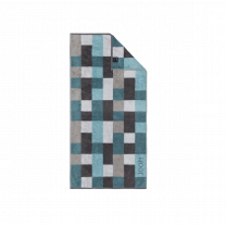 JOOP ´Infinity´ håndklæde 50x100 cm - Petrol/mosaik/tern