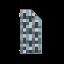 JOOP ´Infinity´ håndklæde 80x150 cm - Petrol/mosaik/tern