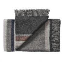 Silkeborg Uldspinderi ´Lyø´ uld plaid 140x240 cm - Grå/mørk grå