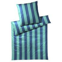 Elegante ´Lines´ sengetøj 135x220 - Petroleum/Blå